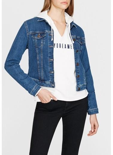 Mavi Jean Ceket | Daphne - Yarı Dar Kesim İndigo